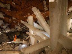 Cueva de cuarzos, Mexico. mina de Naica
