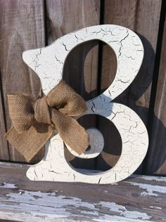 Wooden Letter B 12 tall Any Letter A  Z Vintage by VintageShore, $35.00
