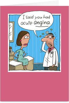 cardiac nursing, nurs humor, laugh, stuff, funni, nurse humor, acut angina, doctor, thing