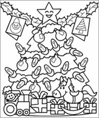 A lot of really cute Christmas coloring pages for our Christmas in July theme next week at summer day camp