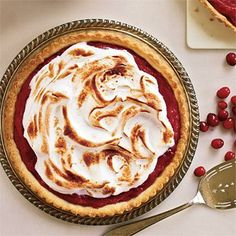 Meringue-Topped Cranberry Curd Tart | CookingLight.com