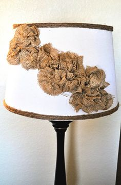 pretty, neat idea!! burlap rosettes