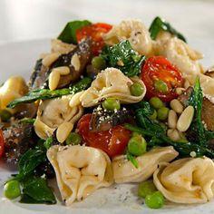 dinner, salad, tortellini, food, spinach, eat, yummi, recip, pasta