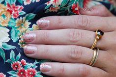sparkles + clear nail art designs, nail arts