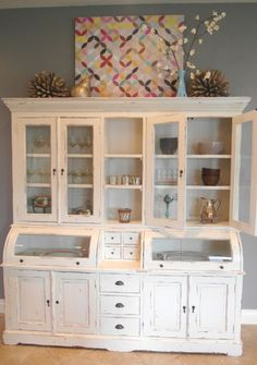beautiful hutch for organizing the kitchen!!!  #hutch #organize