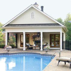 simple pool house, cabana, poolhous, pool house shed, pool houses