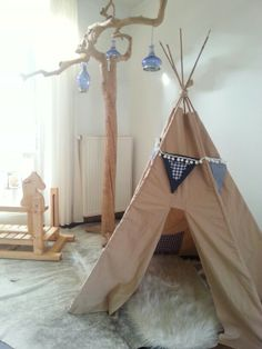 My home made tipi for my little boy