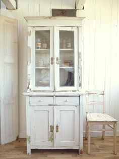 Beautiful distressed cabinet for bathroom