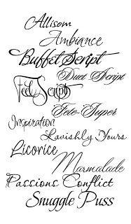 cursive - elegant