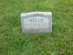 Genealogical Gems: Tombstone Tuesday: Leo and Maureen Welsh #genealogy #familyhistory