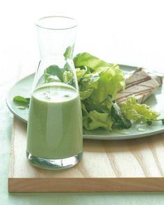 Creamy Garlic, Parsley, and Feta Dressing - Martha Stewart Recipes. I am addicted to making my own salad dressings now!