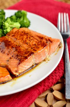 Maple bourbon glazed salmon