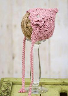 Crochet Pixie Bonnet-