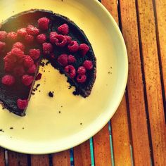 Chocolate and raspberry Tim Tam tart - Fat Mum Slim