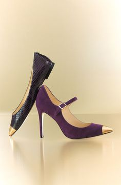 Love the purple with gold. Gorgeous!