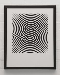 A series of single letter prints in black and white make for an eye-catching debut screen-print project from YeahNoYeah.