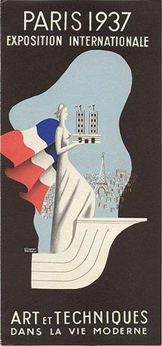 """Travel brochure for """"Paris - 1937"""