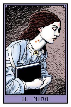 Mina Harker (Dracula) as The High Priestess in † THE VAMPIRE TAROT † #tarot #tarotcards #cartomancy #vampires #dracula #thevampiretarot #minaharker #thehighpriestess #occult #divination #fortunetelling