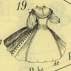 Journal DEMOISELLE PATTERN April 1863- DOLL  garments