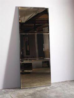 (BRONZE MIRROR) 3 Piece Beveled Bronze Mirror