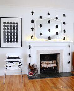 DIY Modern Paper Tree Garlands