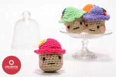 Cupcakes tejidos en crochet, por Camila Aparicio. Hecho en casa. http://www.utilisima.com/manualidades/8823-cupcakes-tejidos-en-crochet.html