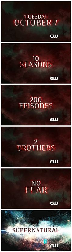 """[gifset] """"2 brothers No fear"""" - What the show is all about! Supernatural Season 10 CW Promo"""