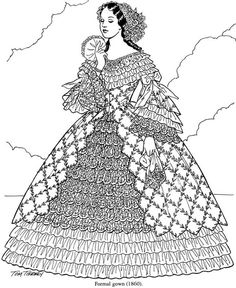 Southern belle on pinterest belle costume victorian for Southern belle coloring pages