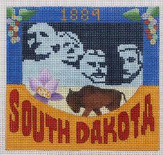 Denise DeRusha Designs South Dakota Hand Painted Needlepoint Canvas 18 count