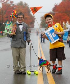 """Cool Homemade Costumes for Kids: Characters from Disney's """"Up""""... Coolest Halloween Costume Contest"""