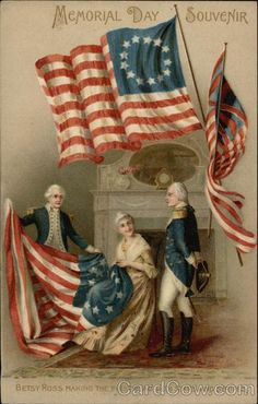 Memorial Day Souvenir with Betsy Ross & Flags