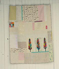 Feather Quilt | Flickr - Photo Sharing! #modern #improv