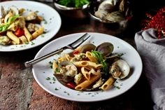 Penne with Clams Chi