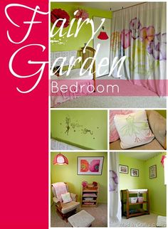 Beautiful room for a little girl!  A Fairy Garden Bedroom (many inexpensive, DIY ideas!) - Mad in Crafts