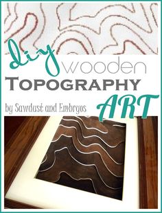 DIY Wooden Topography Art {Sawdust and Embryos}