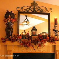 Fall Mantel Decor!