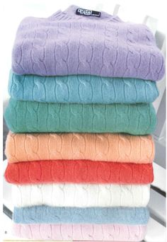 Cashmere cable sweaters...this is eye candy to me