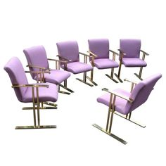 Rare Brass Chairs by Directional - Set of 6 - $8,900 Est. Retail - $3,200 on Chairish.com