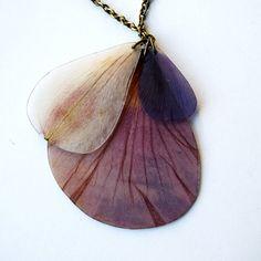 petal necklace, ahoyahimsa
