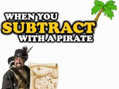 When You Subtract With a Pirate (math song for kids)