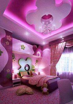 Luxury bedroom for girls