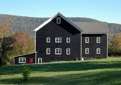 Black barn.