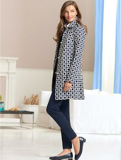 Talbots - Geo-Square Trench | | Misses