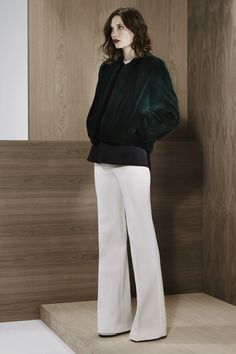Derek Lam - How To Pull Off White Pants In Cold Weather lam prefal, fashion weeks, runway fashion, prefal 2014, white pants, baby boots, style tips, cold weather, derek lam