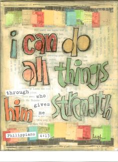Scripture Art I can do all things Philippians by artbyerinleigh, $18.00