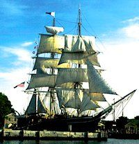 Tall Ship Tours - July 2014. Come tour America's Tall Ship, the Eagle, the tallest tall ship in U.S.Coast Guard's fleet on Saturday and Sunday, July 27 and 28, at the Charlestown Navy Yard next to the USS Constitution. The free tours take place 10am-6pm on Saturday and 11:30am-6pm on Sunday.