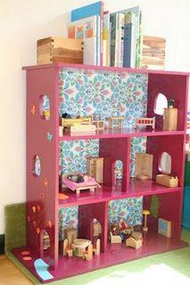 Poppenhuis ideeen zelf maken playhouse on pinterest doll for Poppenhuis voor barbie