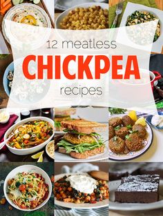 12 Meatless Chickpea Recipes for #MeatlessMonday