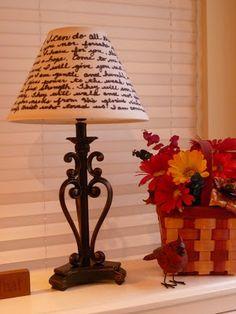 DIY Sharpie Handwritten Lampshade from joyfulhomemaking.com