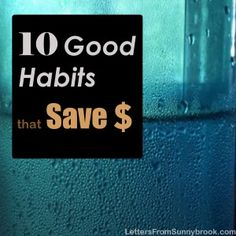Do you have these good habits that help save money every day? See where you can make little changes in your life to save money and realize l...